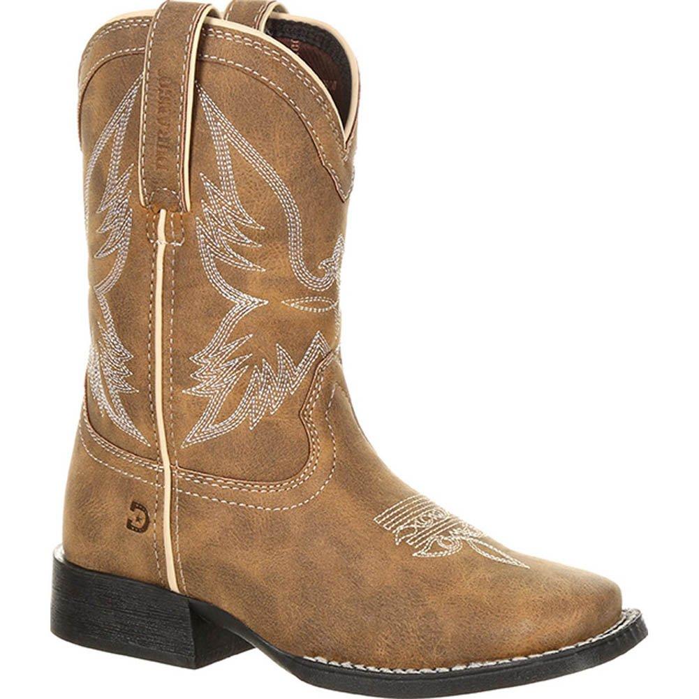Durango Lil Mustang Mid Calf Boot Brown/Patriotic 7 Medium US Big Kid