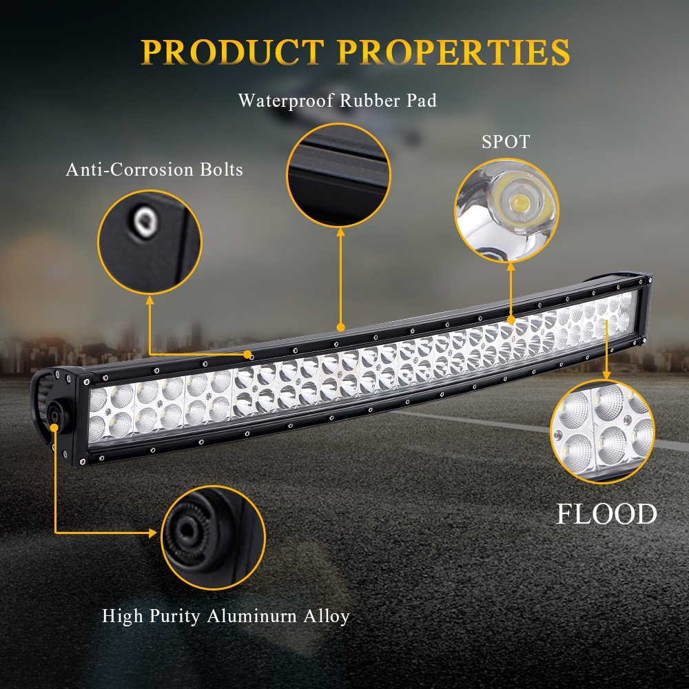 Quakeworld Dot Approved 52 Inch 300w Offroad Led Light Bar 4 Wiring Harness For 18w Driving Fog