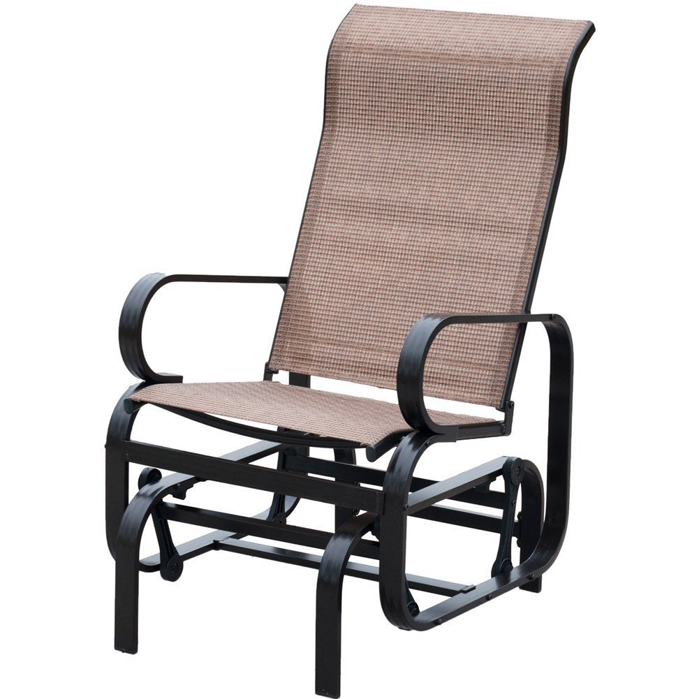 PatioPost Sling Glider Outdoor Patio Chair Textilene Mesh Fabric, Brown by PatioPost