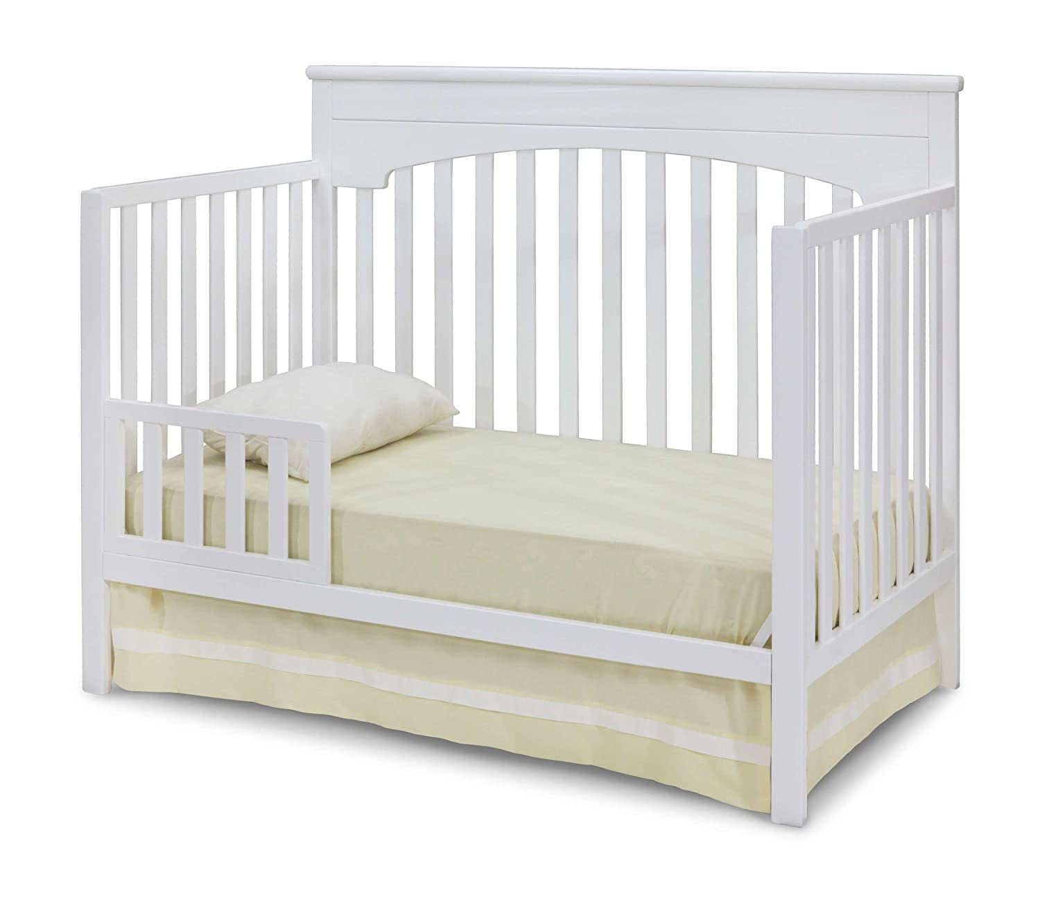 Delta Children Layla 4-in-1 Convertible Baby Crib, White