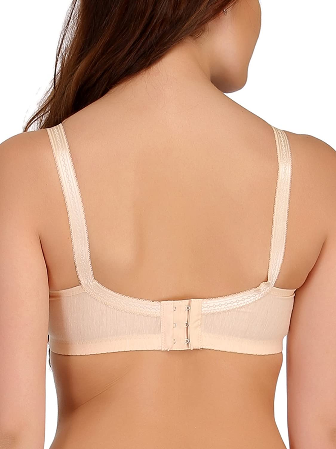 Clovia Cotton Lycra Padded Yellow Nursing Bra With Removable Flaps