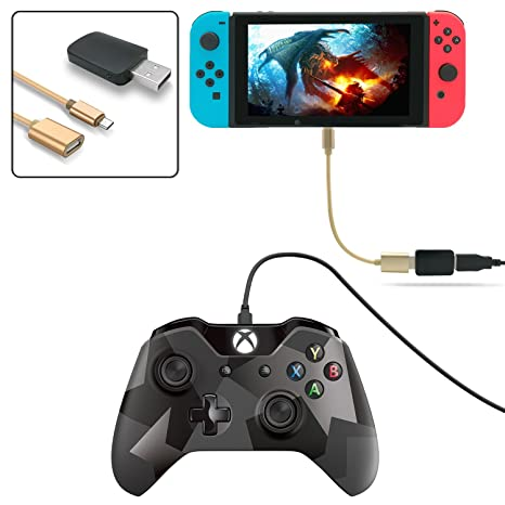 FastSnail Controller Converter for Nintendo Switch, Makes PS3/PS4  Dualshock/Xbox ONE Controllers Compatible with Your Switch, Support  Vibration, with