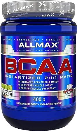 ALLMAX Nutrition, BCAA Powder Instantized 2 1 1, Unflavored, 400g