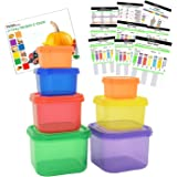 Prefer Green 7 Piece Portion Control Containers Kit,Label-Coded,Multi-Color-Coded System with COMPLETE GUIDE & 21 DAY DAILY TRACKER & 21 DAY MEAL PLANNER & RECIPES PDFs,Lose Weight Food Storage