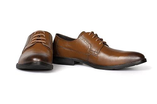 Vileano Zapatos con Cordones Hombre, Color Marrón, Talla 43