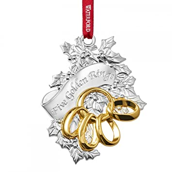 Amazoncom Waterford 2015 Five Golden Rings Ornament Home  Kitchen