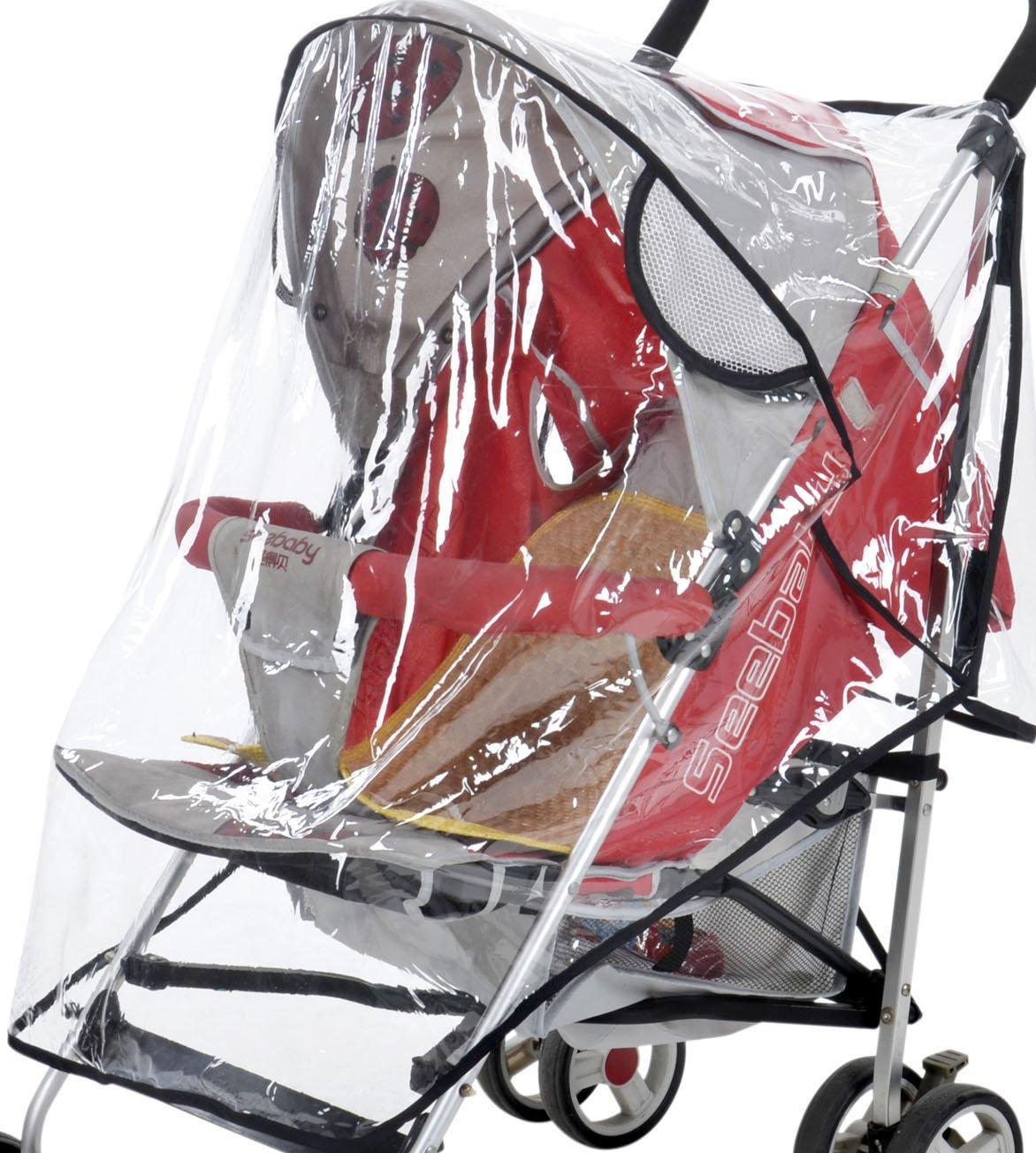 シンプルさユニバーサル防水Weather & Insect Shield Babyベビーカーカバー   B00V44NDCS