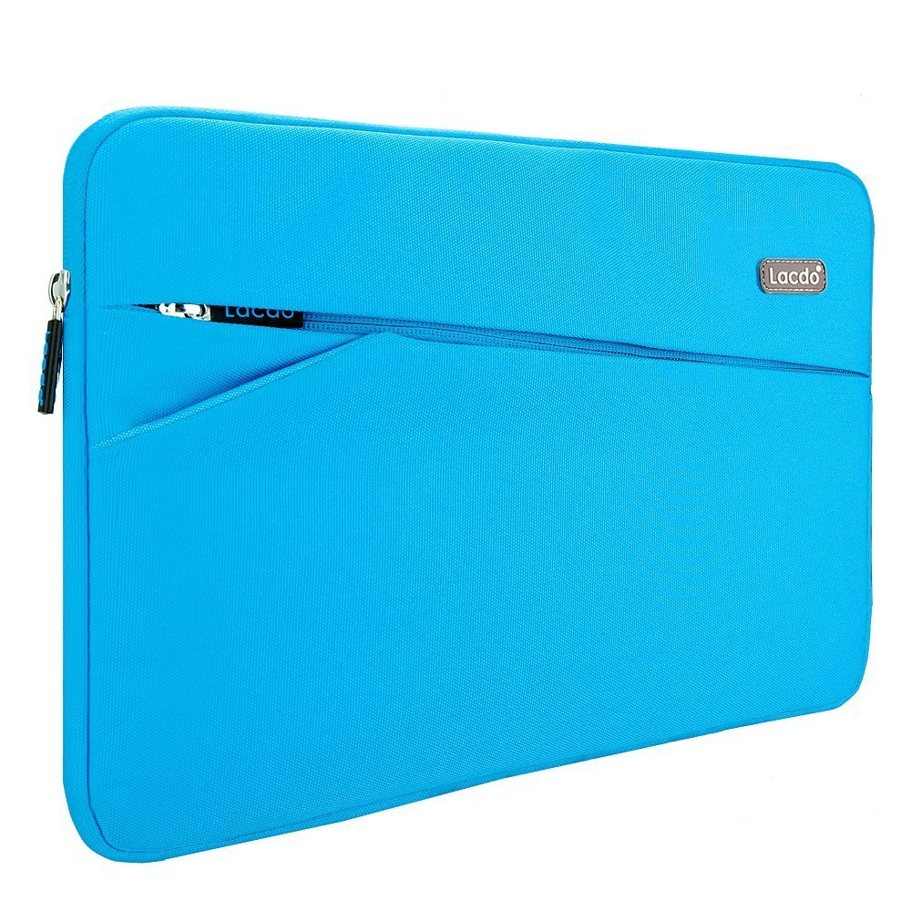 Lacdo 13-13.3 Inch Waterproof Laptop Sleeve Case for Apple MacBook Pro 13.3-inch Retina / MacBook Air 13'' / iPad Pro / Surface Book / ASUS ZenBook / Dell HP Chromebook Notebook Bag Carrying Case, Blue