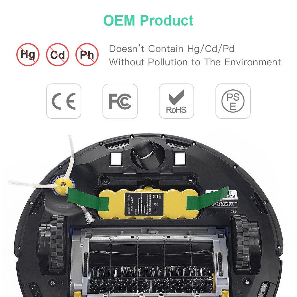 millenniumpaintingfl.com 14.4V 3.8Ah Ni-Mh Battery for iRobot ...