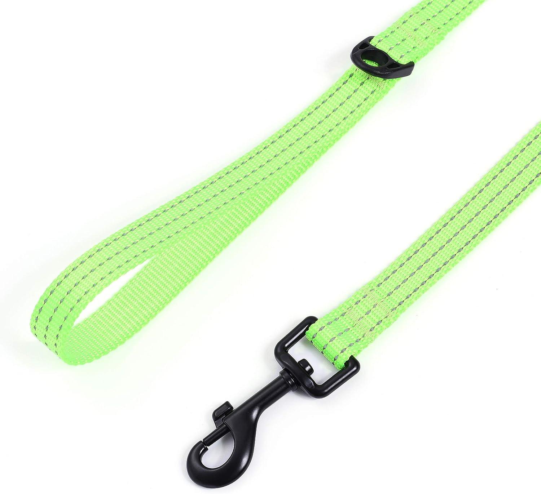 Medium Dog Collar Leash Set Small Dog Collar Leash Set Adjustable Collar Leash Set Reflective Dog Collar Leash Set Mile High Life Purple, Small Neck 11-15 -20 lb