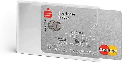 Apertura sul Lato Corto Fronte Trasparente Durable 890323 Confezione da 3 Pezzi Tasca Porta Carte di Credito RFID Secure Argento Metallizzato