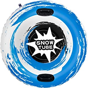 WOMIR Snow Tube Inflatable Snow Sled for Kids and Adults - Heavy Duty Snow Sledding (47 inch)
