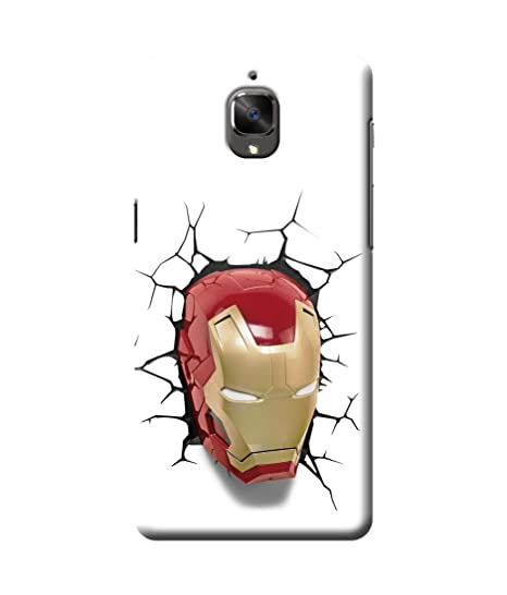 huge discount 2da78 7da16 Be Awara 3D Ironman Face Back Cover Case for Oneplus 3T: Amazon.in ...