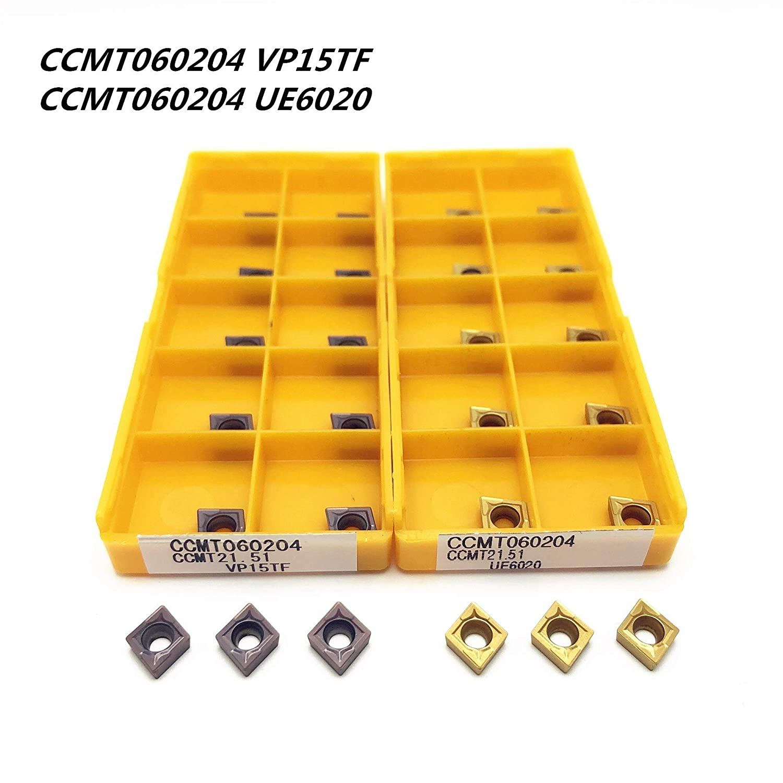 Angle : CCMT060204 VP15TF FMN-JC 10PCS Carbide Insert CCMT060204 CCMT21.51 VP15TF//UE6020 Inner Round Milling Tool CCMT 060204 CNC Blade Lathe Tool Milling Tool