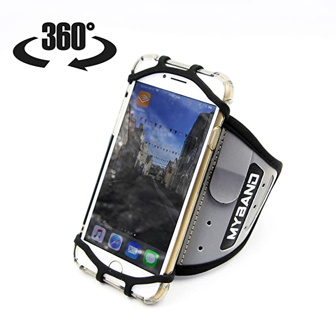 5c6aa34a48a2 MyBand Elite 360 Rotatable Sports and Fitness Universal Running Armband  Reflective with Hidden Security Pocket Card