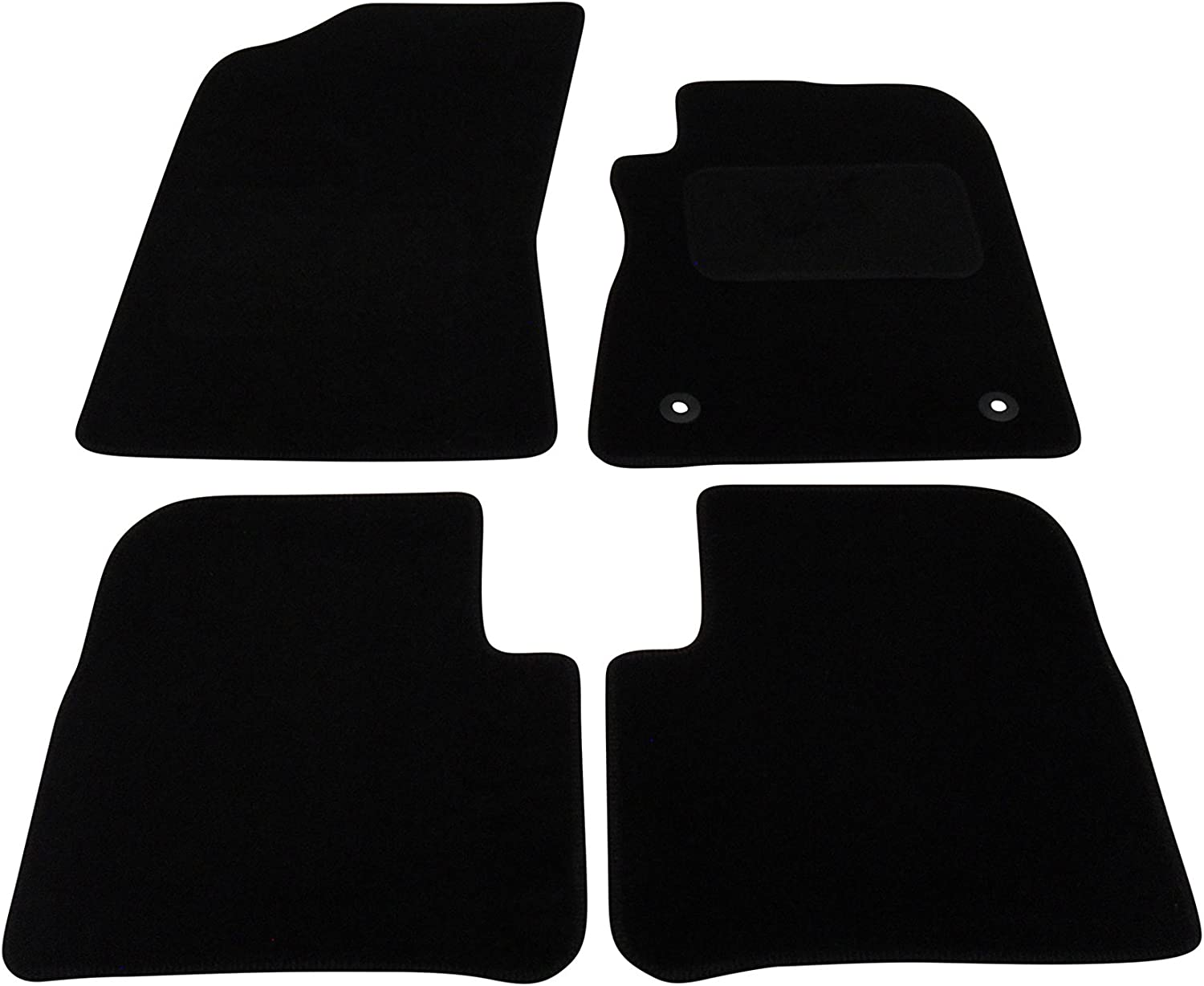 CITROEN C3 2010 ON TAILORED CAR FLOOR MATS CARPET BLACK MAT GREY TRIM