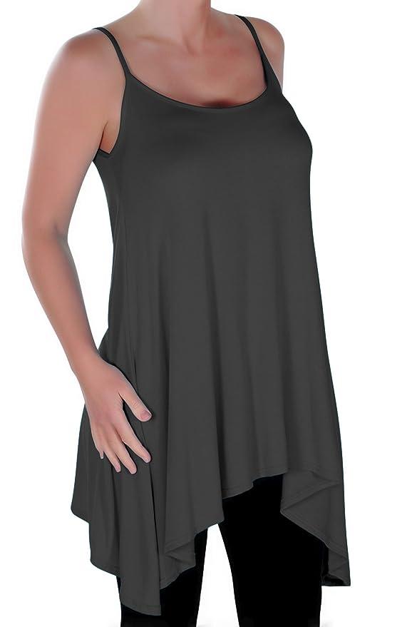 EyeCatch Plus Size - Seattle Ladies Long Strappy Womens Asymmetric Camisole  Cami Dress Top Sizes 12- 30: Amazon.co.uk: Clothing