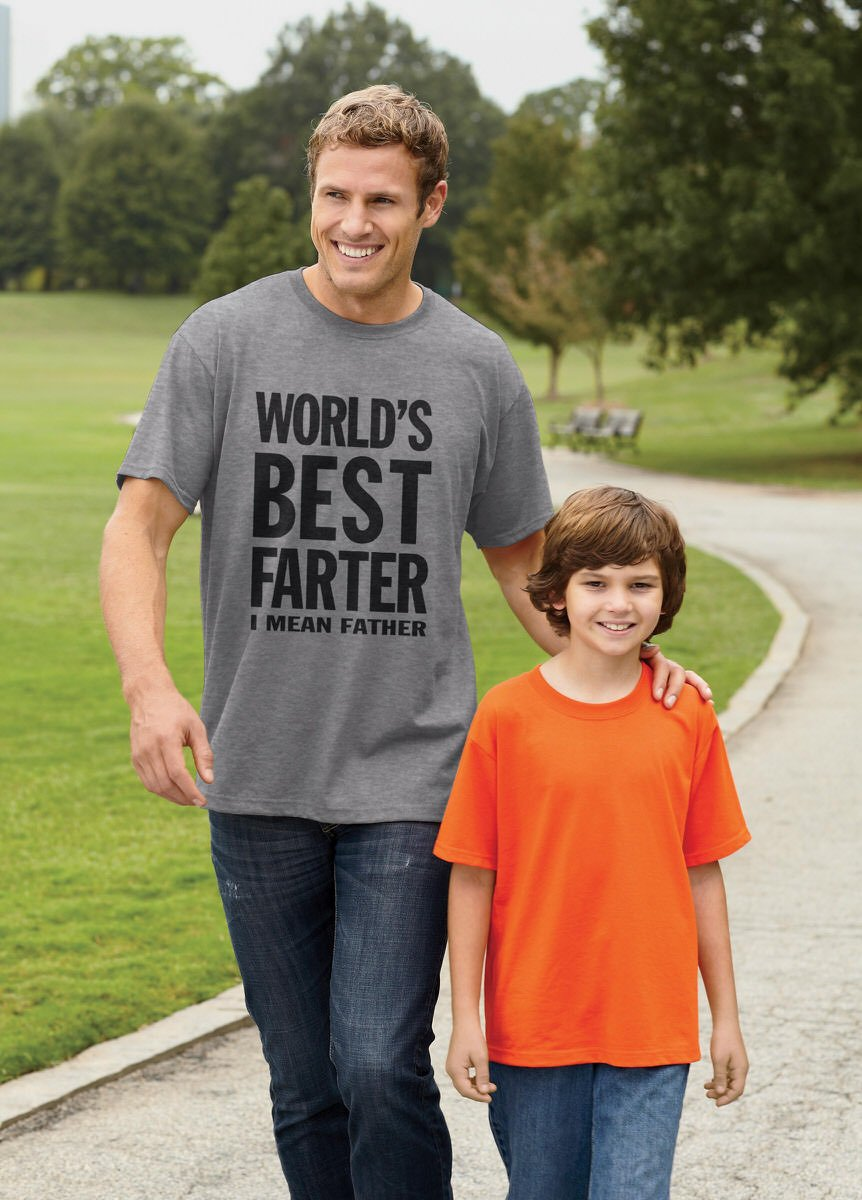 World's Best Farter, I Mean Father Funny Gift for Dad Men's T-Shirt X-Large Gray by Tstars (Image #6)