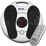 Heartline Electromagnetic Foot Massager & Body Therapy Machine, 25 Massage Modes, Remote Control, 4 Body Electrode Pads. Shiatsu, Acupuncture Modes & Many More (HEEWPFM)