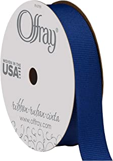 """product image for Offray 362341 5/8"""" Wide Grosgrain Ribbon, Century Blue, 6 Yards"""