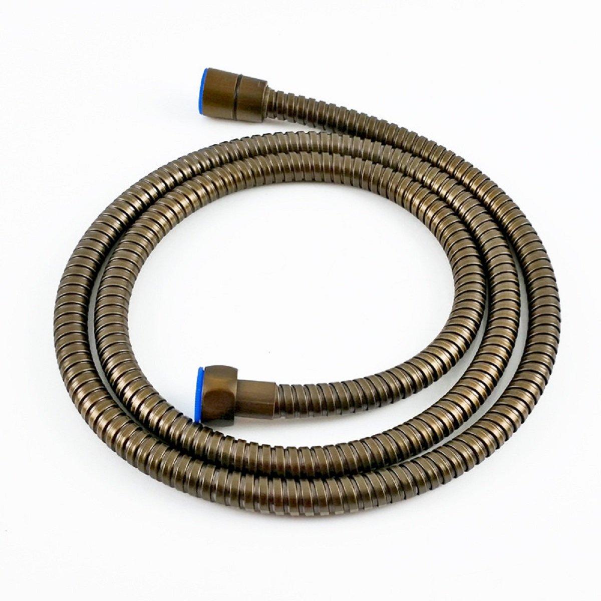 Tubo flessibile per doccia, in acciaio INOX, 1.5 m, tubo flessibile Handheld doccia tubo, bronzo 1.5m baogu