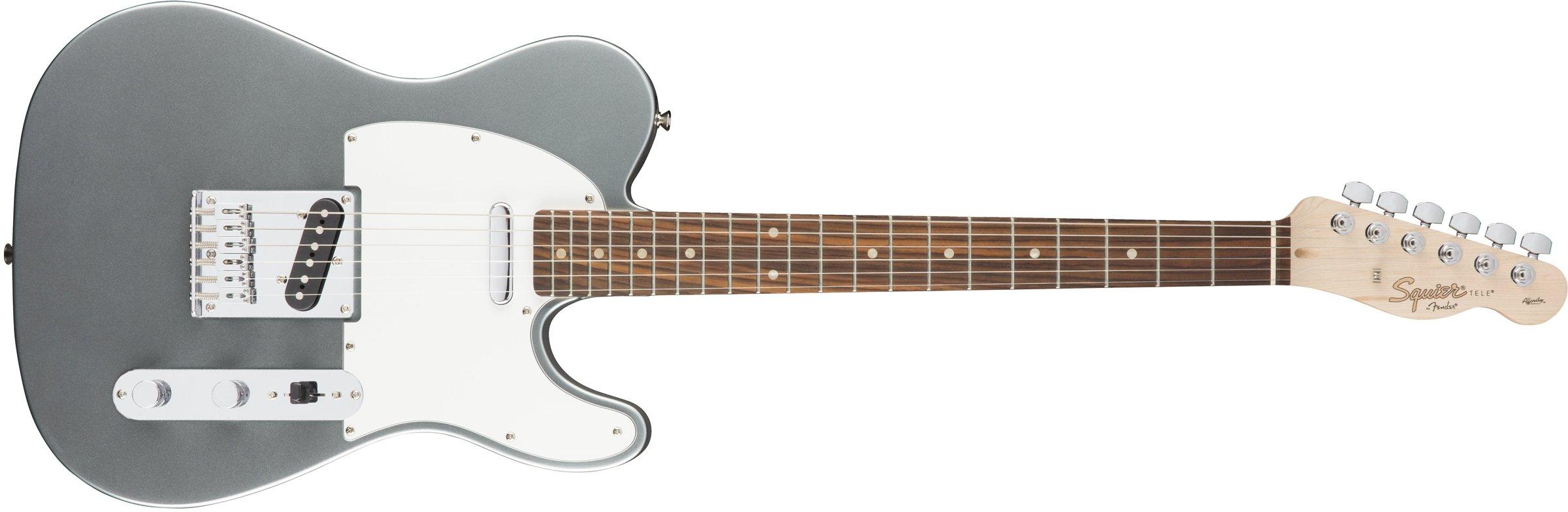 Squier by Fender Affinity Telecaster Beginner Electric Guitar - Rosewood Fingerboard, Slick Silver by Fender
