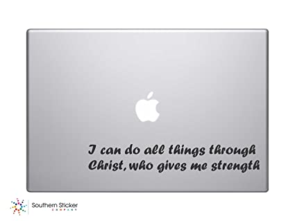 I Can Do All Things Through Christ Who Gives Me Strength Bible Verse Vinyl Car