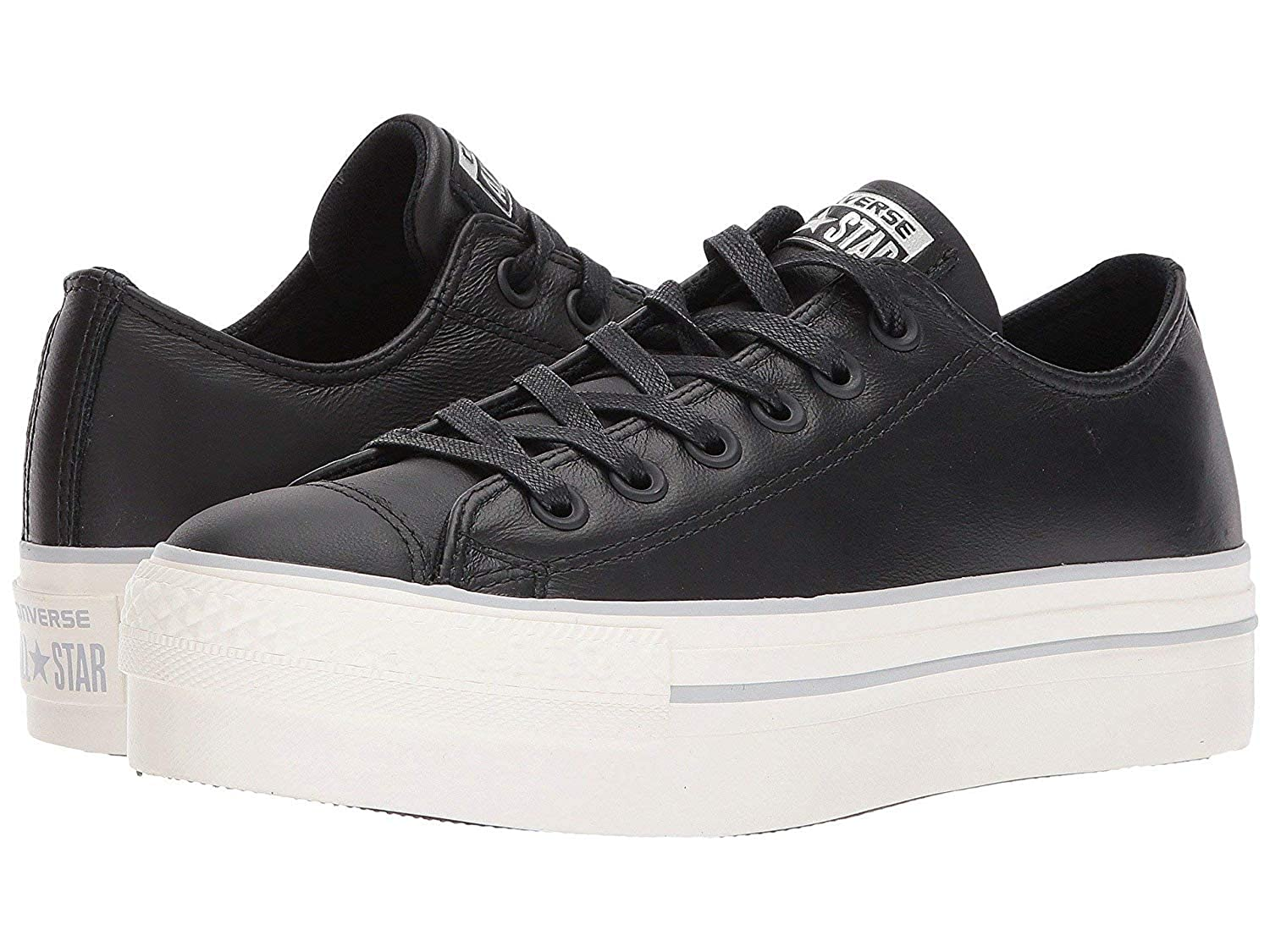 d4504648ddef Converse Women s Chuck Taylor All Star Platform Sneaker Black Leather 10  B(M) US  Buy Online at Low Prices in India - Amazon.in