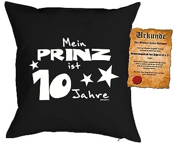 Kinder Jungen Geburtstags Deko Kissen Inkl Spass Urkunde Mein Prinz