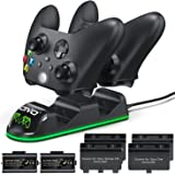 Controller Charger Compatible with Xbox Series & One S/X/Elite Controller, OIVO Xbox One Controller Charging Station with 2 P