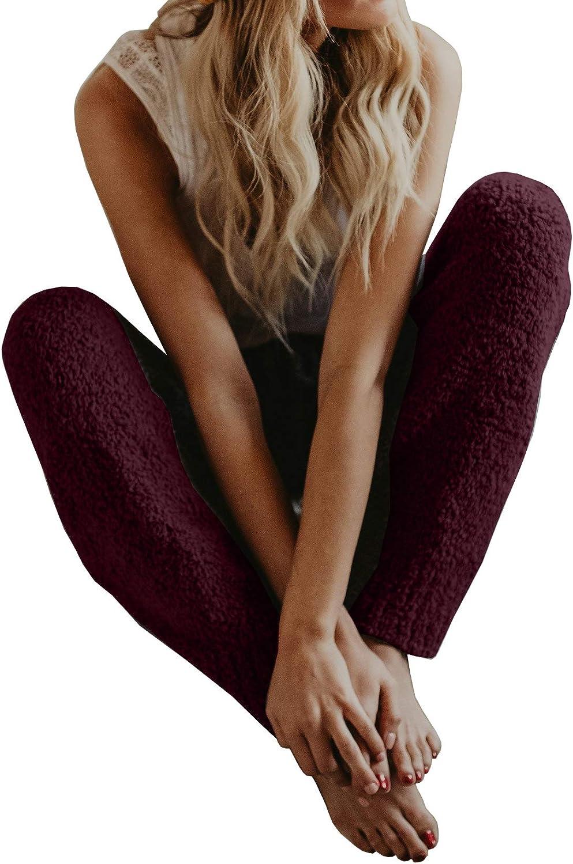 Imily Bela Womens Fuzzy Fleece Pajama PJ Bottoms Pants Winter Warm Cozy Lounge Sleepwear