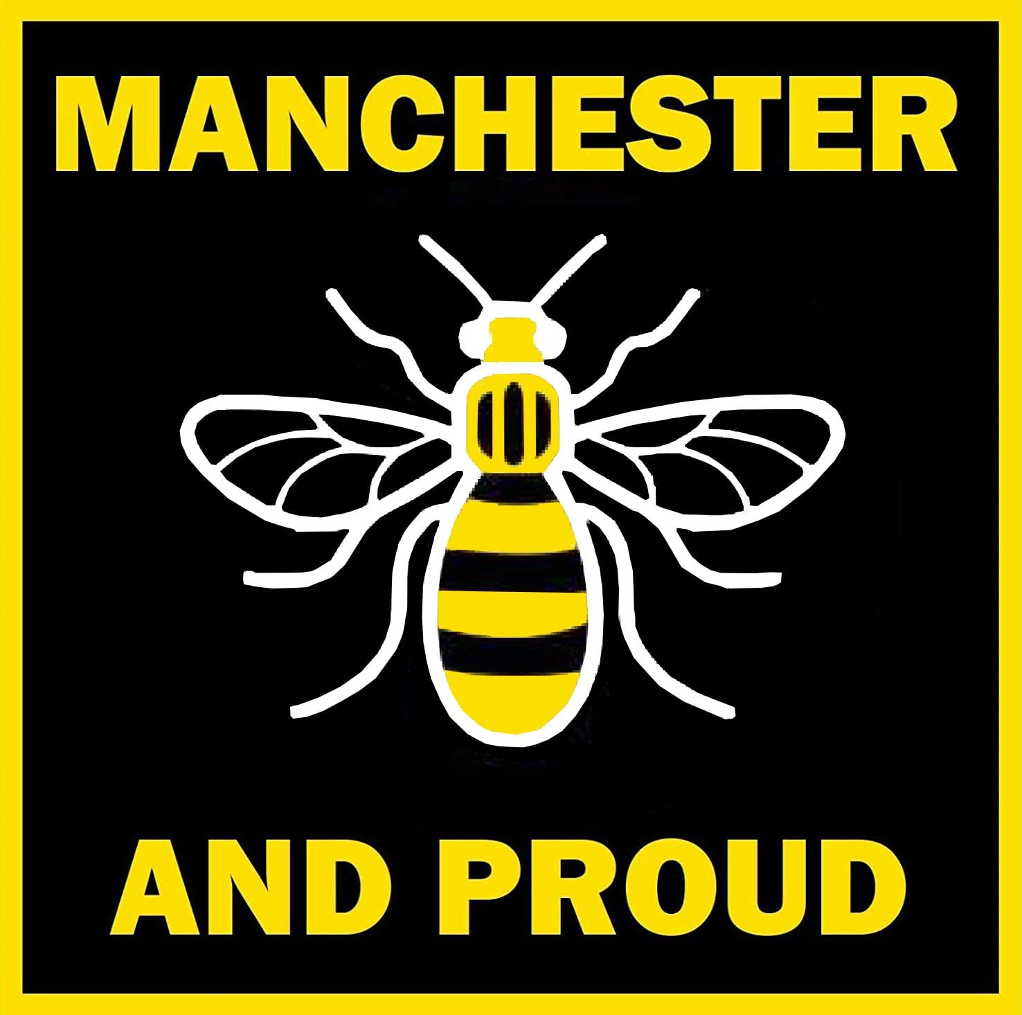 NDTS 12X12 Inches Metal Sign Manchester Bee (Proud) Fun Novelty Souvenir Coasters Warning Sign
