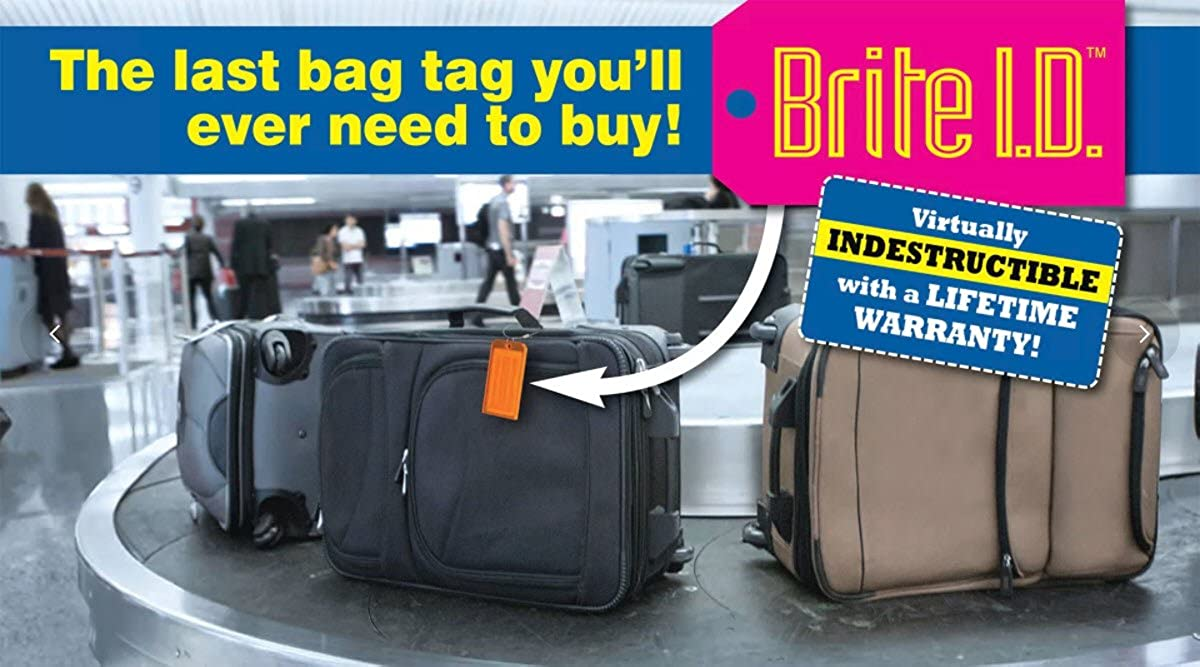 Luggage Tags Pack of 2 Brite I.D