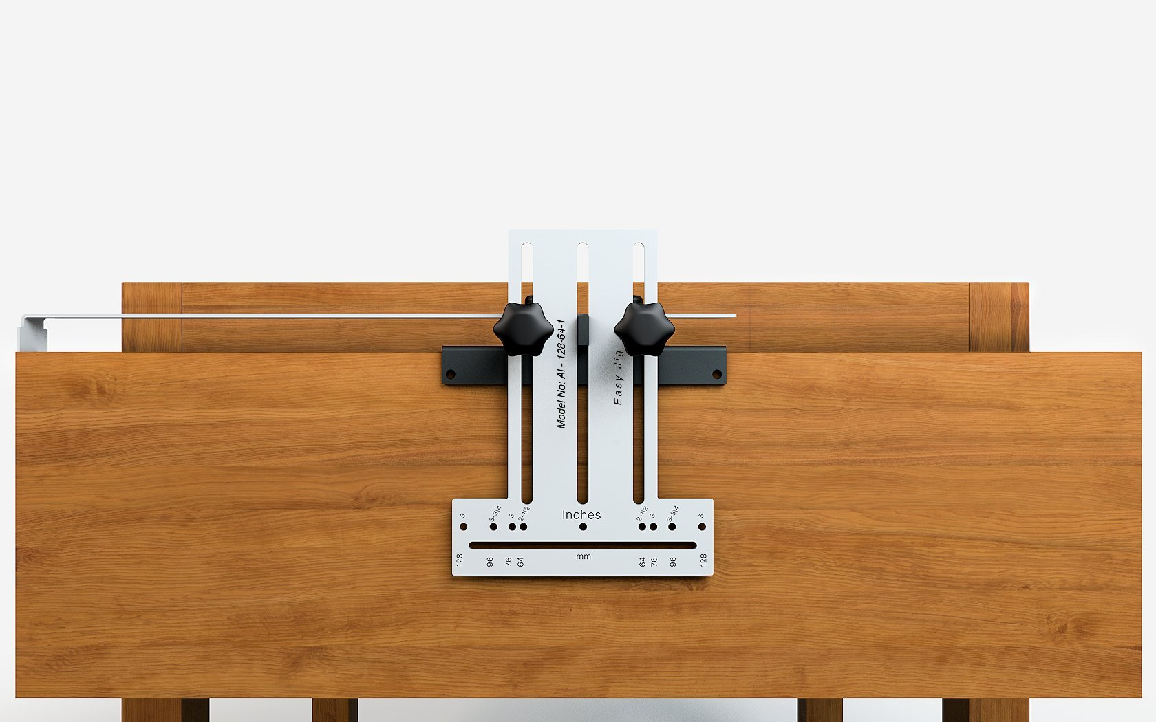 EasyJig 128 Template Jig for easy installation of Kitchen Cabinet Pulls Handles knobs for Doors and Drawers