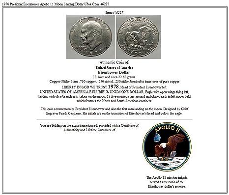 Amazon com: 1978 President Eisenhower Apollo 11 Moon Landing