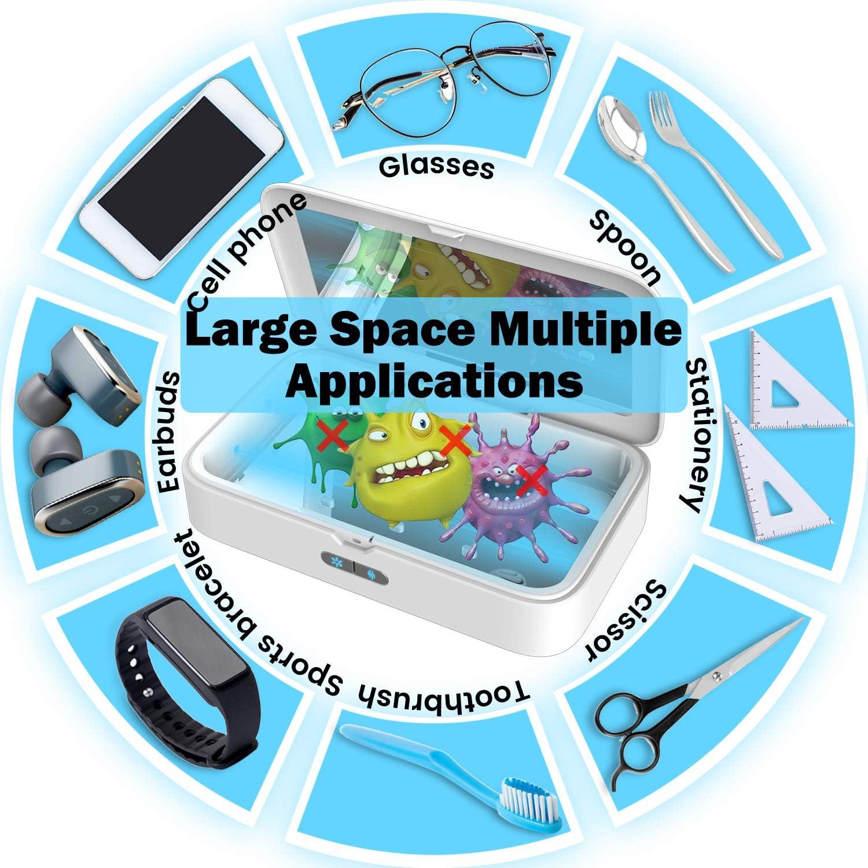 Handy UV Sterilisator Box mit Aroma Diffusor UV Sterilisator UV Box Desinfektion f/ür Handys Make-up Pinsel SunFea Multifunktional UV Desinfektionsmittel Uhr usw