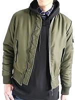 (モノマート) MONO-MART MA-1 ジャケット エムエーワン 中綿 フルジップ ノーカラー ミリタリー 長袖