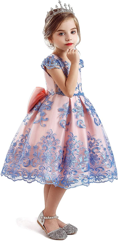 schön TTYAOVO TTYAOVO Blumenmädchen Ärmellose Stickerei Prinzessin Kleid Ideen