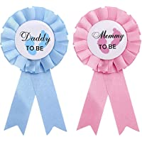 Daddy and Mommy to Be Tinplate Badge Pin 'Mommy to Be' and 'Daddy to Be' Badge Pins Gender Reveal New Daddy Mom Ideal…