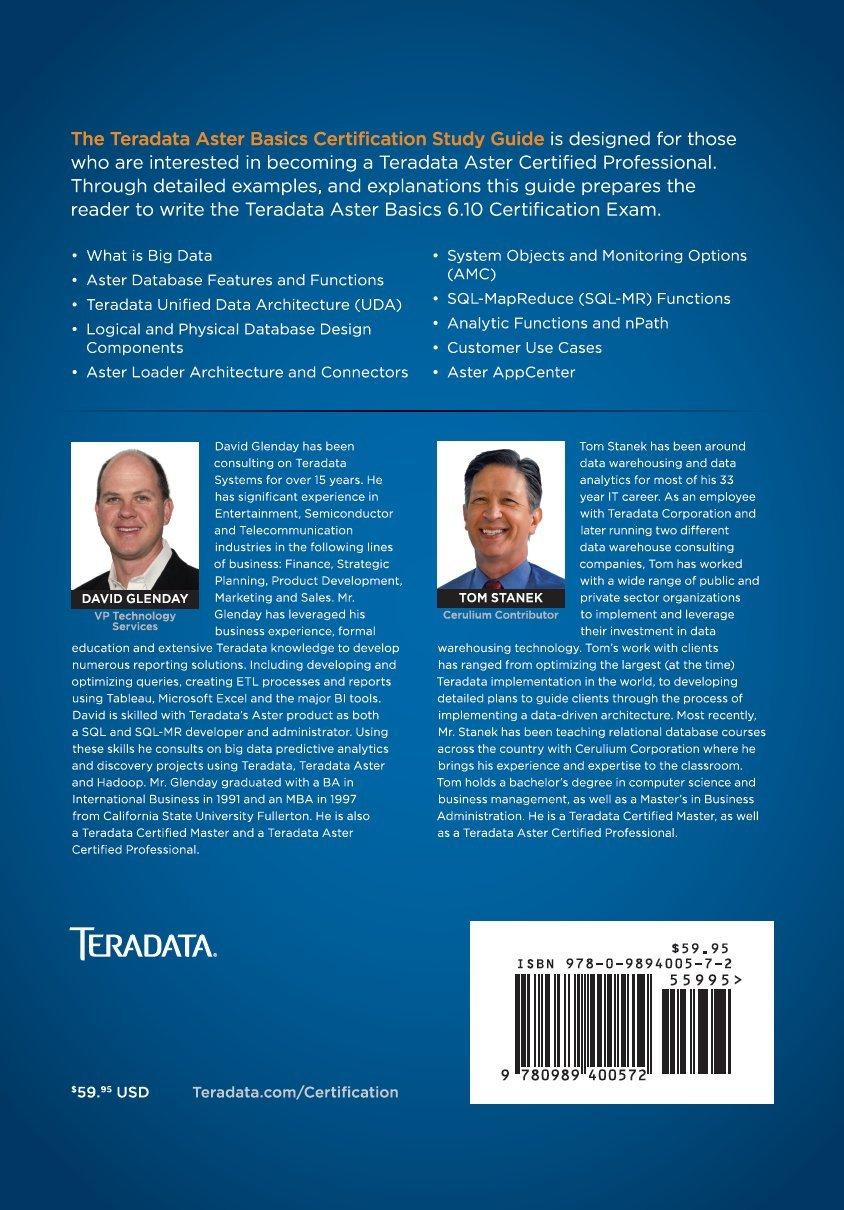 Teradata Aster Certification Study Guide Basics David Glenday