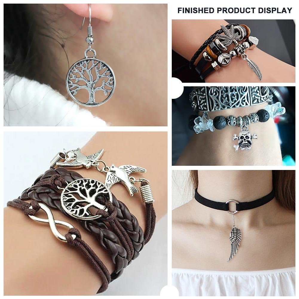 100pcs pendentifs breloques en argent antique pour la fabrication de bijoux Fourniture pour collier Bracelet Dangle Fabrication de bijoux et de lartisanat