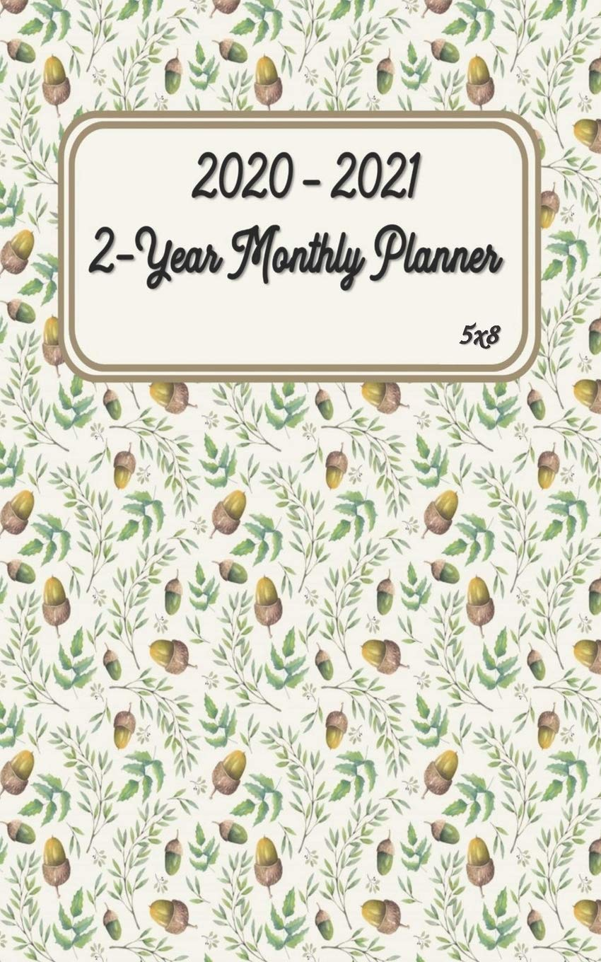 2020 - 2021 2-Year Monthly Planner 5x8: Agenda Planner For ...