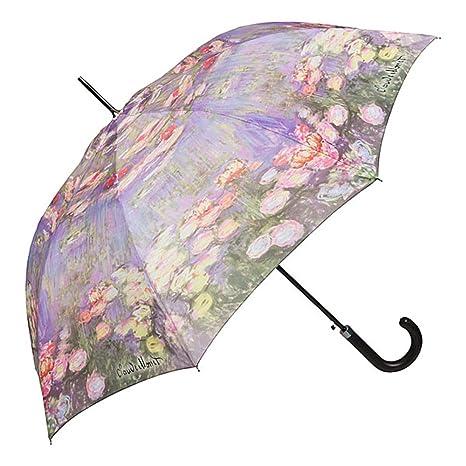 VON LILIENFELD Paraguas Automática Mujer Motivo Floral Arte Claude Monet: Nenúfar