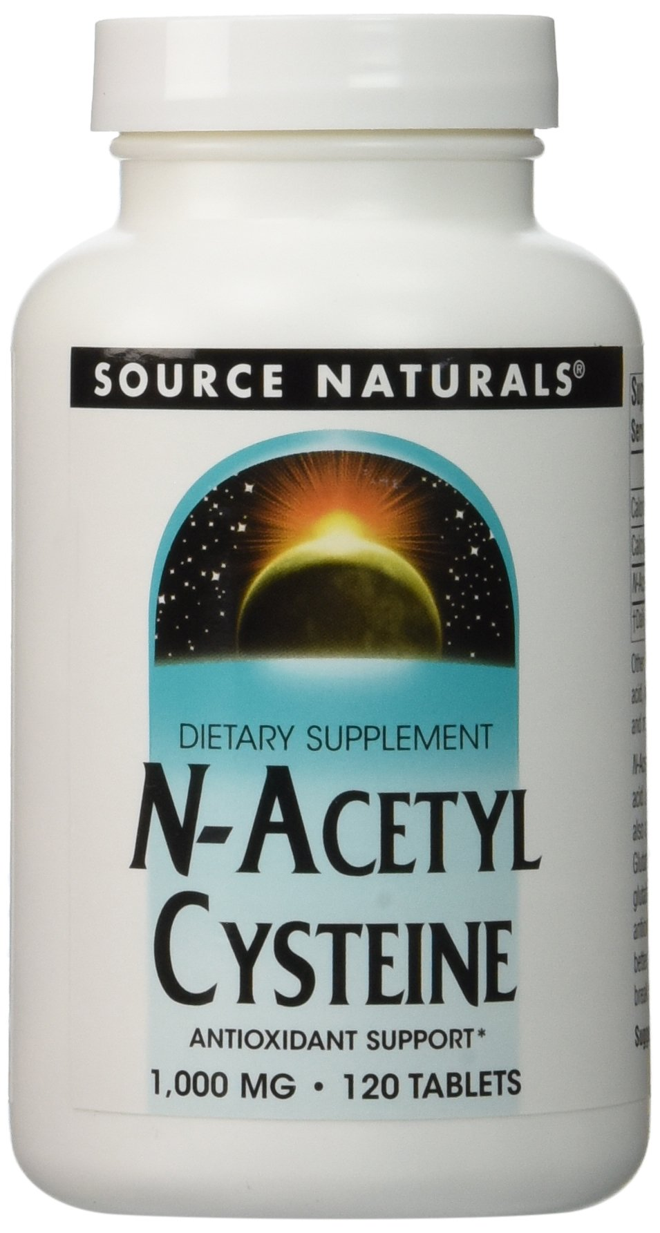 Source Naturals N-Acetyl Cysteine 1000mg , 120 Tablets - 2 pack