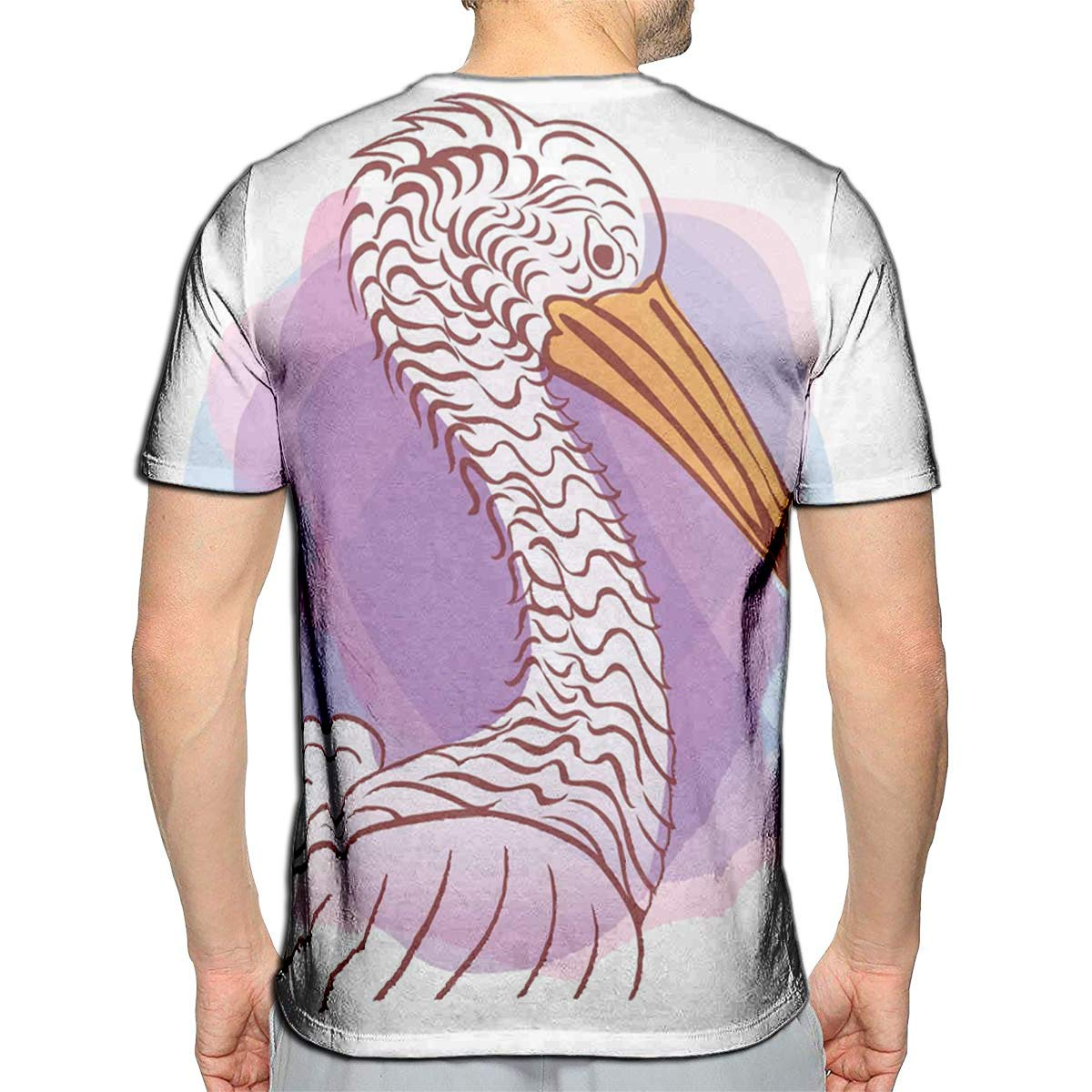 3D Printed T-Shirts Pelican Bird Sign Fldesign Hand Draw Short Sleeve Tops Tees