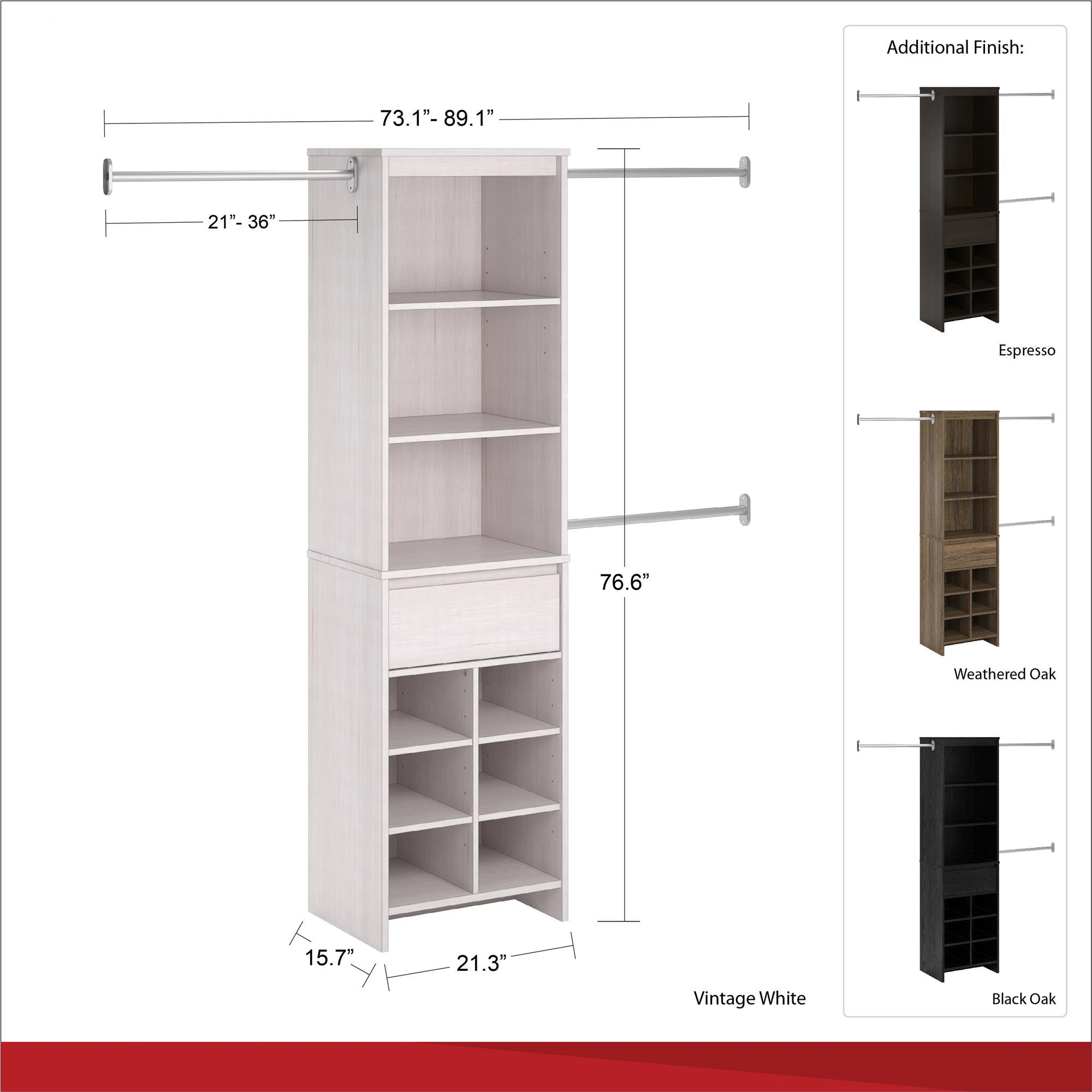 Ameriwood Home Adult Closet System, Espresso by Ameriwood Home (Image #11)