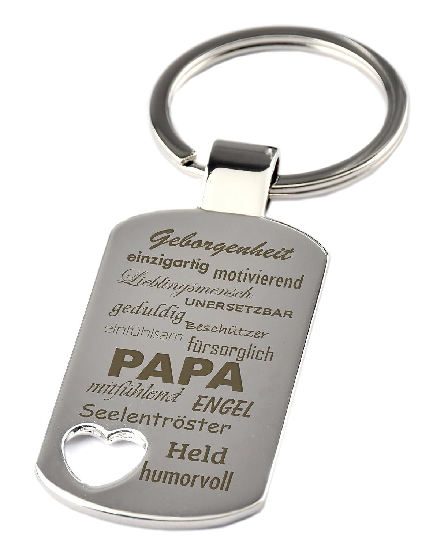 Schlüsselanhänger mit Herzauschnitt und Gravur \