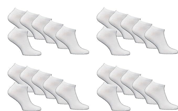 24 Paar Damen Sneaker Socken mit Elasthan schwarz//weiß
