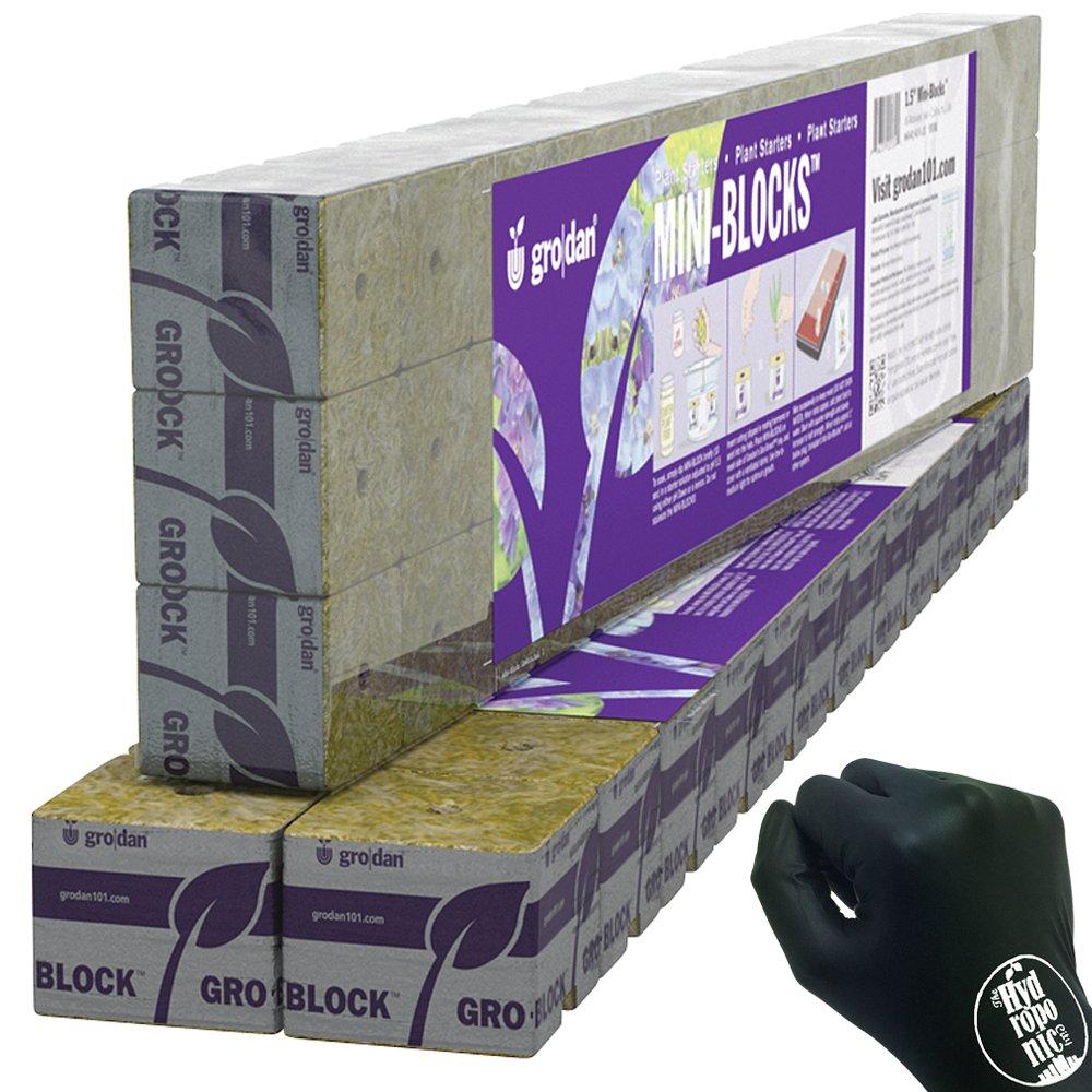"Grodan Wrapped Mini Blocks 2"" x 2"" x 1.5"" Pack of 24"
