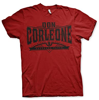 Oficialmente Licenciado Don Corleone - Superano Tutto Hombre Camiseta (Tango  Rojo), Small